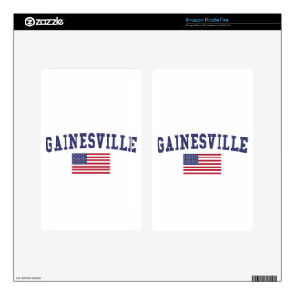 Gainesville GA US Flag Kindle Fire Skin