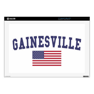 Gainesville GA US Flag Laptop Decal