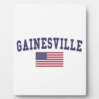 Gainesville GA US Flag Plaque