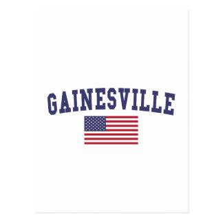 Gainesville GA US Flag Postcard