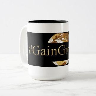 #GAINGROUNDS (TM) Two-Tone COFFEE MUG