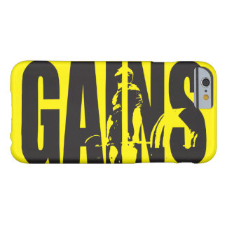 """GAINS - """"Body building"""" Motivational Barely There iPhone 6 Case"""
