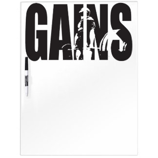 "GAINS - ""Body building"" Motivational Dry Erase Board"