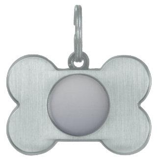 Gainsboro a la pendiente horizontal de plata roman placas de mascota