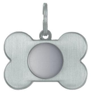 Gainsboro a la pendiente vertical de plata romana placas de mascota
