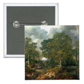 Gainsborough's Forest , c.1748 2 Inch Square Button