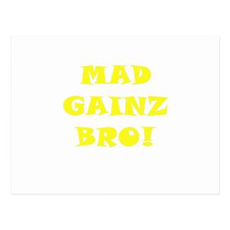Gainz enojado Bro Tarjetas Postales