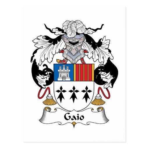 Gaio Family Crest Postcard