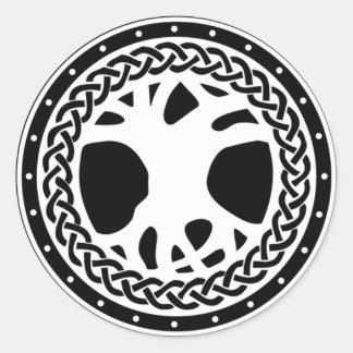 Gaiscioch Logo on Black Round Stickers