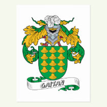 Gaitan Family Crest Postcard