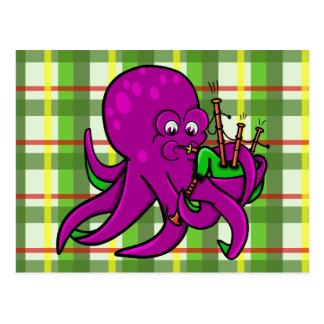 Gaitas divertidas del dibujo animado del ejemplo tarjetas postales