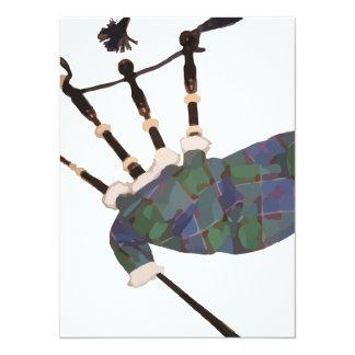 """gaitas escocesas de la tela escocesa invitación 5.5"""" x 7.5"""""""