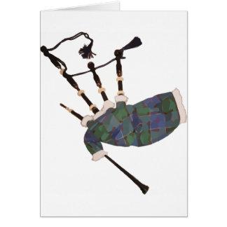 gaitas escocesas de la tela escocesa tarjeta de felicitación