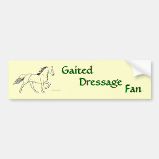 Gaited Dressage Fan Car Bumper Sticker