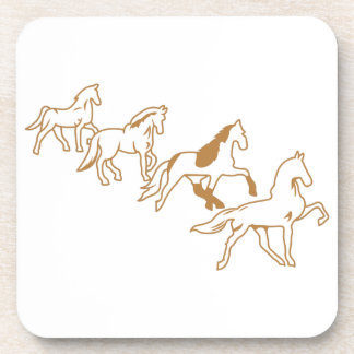 Gaited Horses Outline Drink Coaster