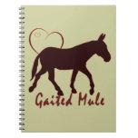 Gaited Mule Hearts Note Book