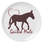 Gaited Mule Hearts Party Plate