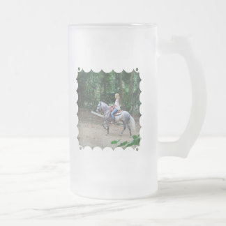 Gaited Paso Fino Frosted Beer Mug