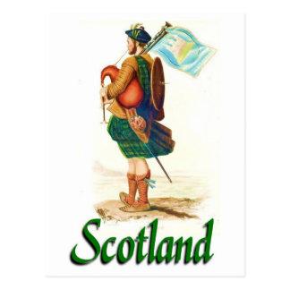 Gaitero de Escocia Tarjeta Postal