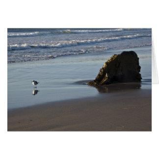 Gaitero de la arena en la playa tarjetón
