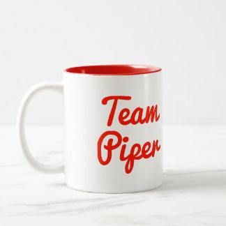 Gaitero del equipo taza de café de dos colores