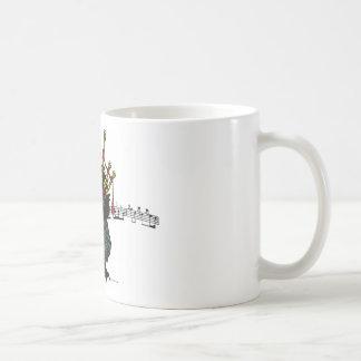 Gaitero del erizo de la montaña taza de café