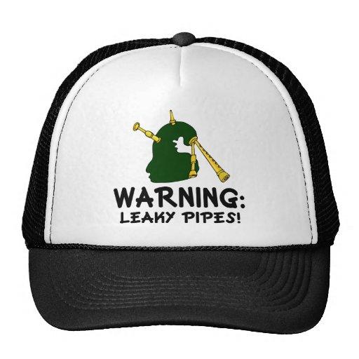 Gaitero divertido que advierte el regalo permeable gorras de camionero