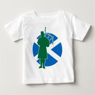 Gaitero escocés playera de bebé