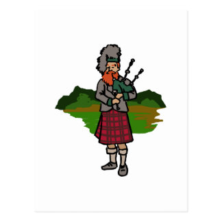 Gaitero escocés postal