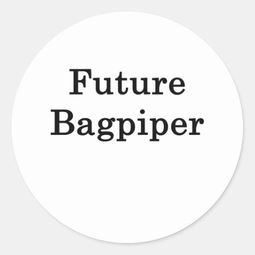 Gaitero futuro pegatinas redondas