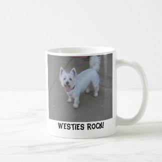 ¡(Gaitero) roca de Westies! Taza Clásica