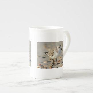 Gaitero y Seashells de la arena Taza De Porcelana