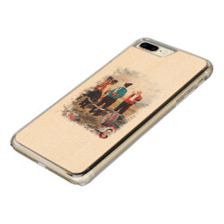 Carved Apple iPhone 7 Plus Wood Case with Greyhound Phone Cases design