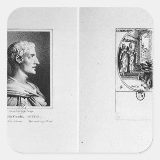 Gaius Cornelio Tácito grabado por Julien Pegatina Cuadrada
