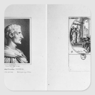 Gaius Cornelius Tacitus  engraved by Julien Square Sticker