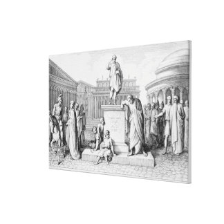 Gaius Gracchus Weeping Before his Father's Canvas Print