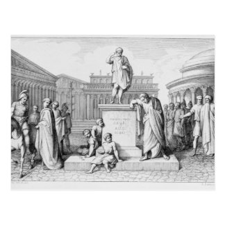 Gaius Gracchus Weeping Before his Father's Postcard