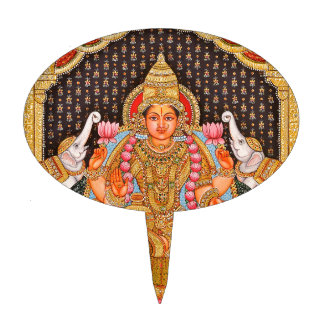 GAJA LAKSHMI INTRICATE TANJORE PAINTING {SOUTH IND CAKE TOPPER