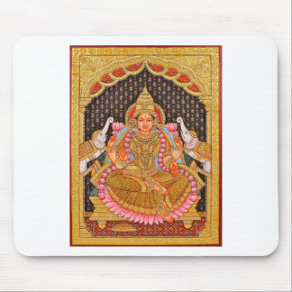 GAJA LAKSHMI INTRICATE TANJORE PAINTING {SOUTH IND MOUSE PAD