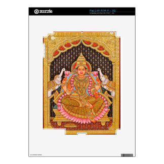 GAJA LAKSHMI INTRICATE TANJORE PAINTING {SOUTH IND DECALS FOR THE iPad 2