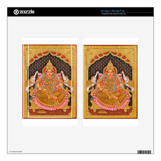 GAJA LAKSHMI INTRICATE TANJORE PAINTING {SOUTH IND DECAL FOR KINDLE FIRE