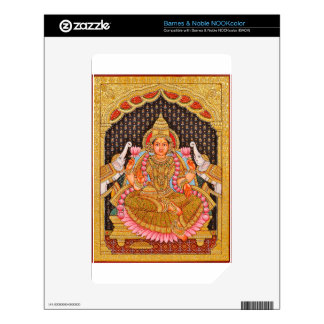 GAJA LAKSHMI INTRICATE TANJORE PAINTING {SOUTH IND NOOK COLOR DECALS