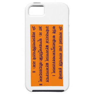 Gajananam Ganapati Ganesha Sanskrit Mantra iPhone 5 Case