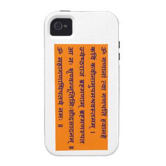 Gajananam Ganapati Ganesha Sanskrit Mantra Vibe iPhone 4 Cover