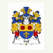 Gajl Family Crest Postcard