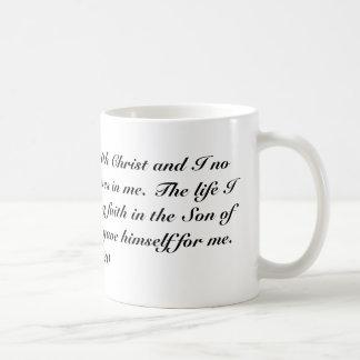 Gal 2:20 classic white coffee mug