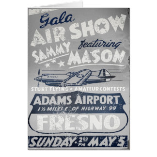 Gala Air Show Vintage Aviation Greeting Cards