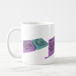 Gala as Ga Gallium and La Lanthanum Coffee Mug