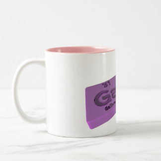 Gala as Ga Gallium and La Lanthanum Two-Tone Coffee Mug