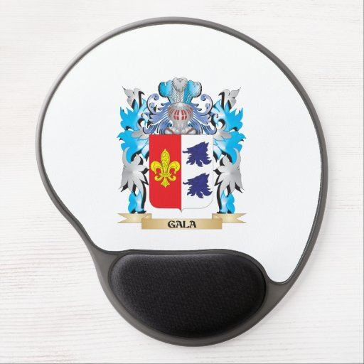Gala Coat of Arms - Family Crest Gel Mousepads